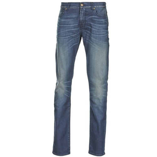textil Hombre vaqueros slim 7 for all Mankind RONNIE ELECTRIC MIND Azul / Medium