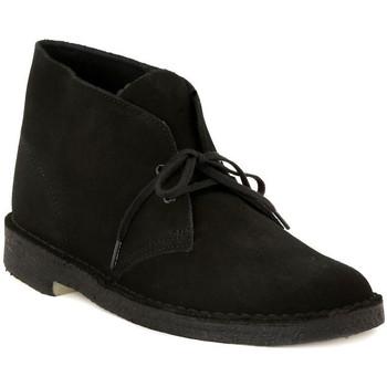 Zapatos Hombre Botas de caña baja Clarks DESERT BOOT BLACK Nero