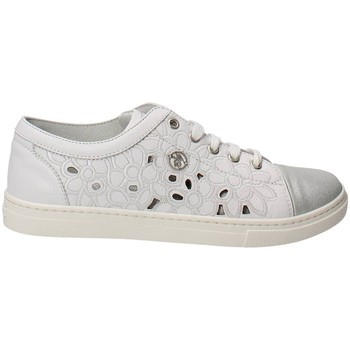 Zapatos Niña Zapatillas bajas Blumarine Blumarine  D1443 Zapatillas De Deporte Bajas Chica Blanco Blanco