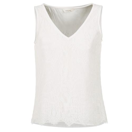 textil Mujer camisetas sin mangas Naf Naf LADALIA Crudo