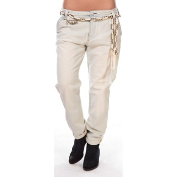 textil Mujer Pantalones con 5 bolsillos Rich & Royal Rich&royal Pantalon Amalfi 05Q990 Beige