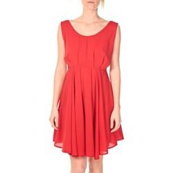textil Mujer Vestidos cortos Aggabarti Aggarbati Robe Bretelles 121084 Cerise Rojo