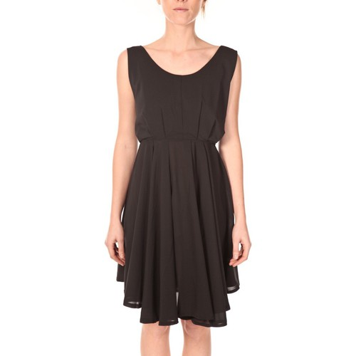 textil Mujer Vestidos cortos Aggabarti Aggarbati Robe Bretelles 121084 Noir Negro