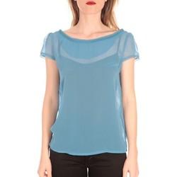textil Mujer Camisetas manga corta Aggabarti t-shirt voile121072 bleu Azul