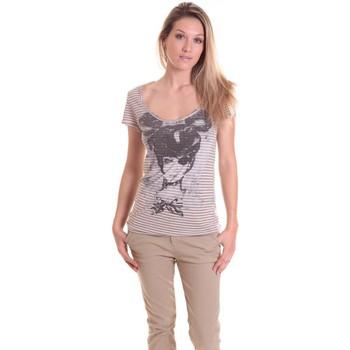 textil Mujer Camisetas manga corta Rich & Royal T-shirt 11q442 Beige/Taupe Beige