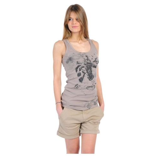 textil Mujer Camisetas sin mangas Rich & Royal T-shirt 11q436 Beige Beige