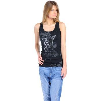 textil Mujer Camisetas sin mangas Rich & Royal T-shirt 11q436 Noir Negro