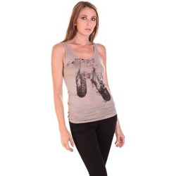 textil Mujer Camisetas sin mangas Rich & Royal Débardeur 11q421 Taupe Marrón