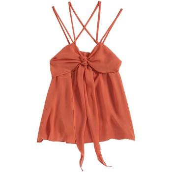 textil Mujer Camisetas sin mangas Aggabarti Top 121068 Orange Naranja