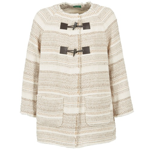 Benetton LUMO Beige - Envío gratis | ! - textil Abrigos Mujer