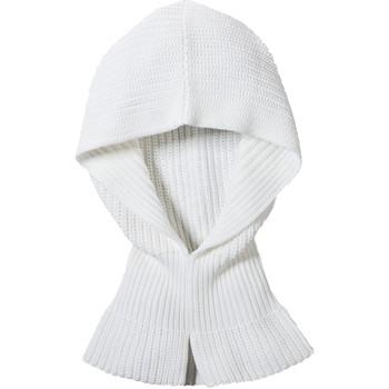 Accesorios textil Mujer Bufanda Petit Bateau Col Capuche Femme en côte perlée Blanc Lait Blanco
