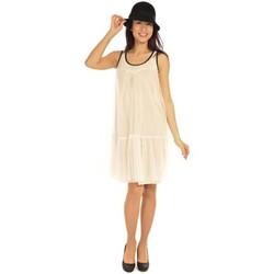 textil Mujer Vestidos cortos Aggabarti Robe Tulle 121008 Ecru Beige