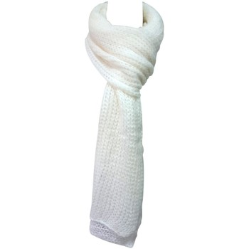 Accesorios textil Mujer Bufanda De Fil En Aiguille Écharpe Santa Blanc Blanco