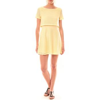textil Mujer Vestidos cortos La Vitrine De La Mode Robe LC-0461 By La Vitrine Jaune Amarillo