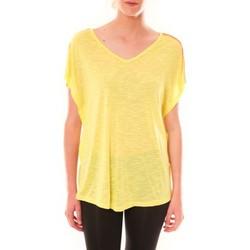 textil Mujer Camisetas manga corta Dress Code Top M-9388  Jaune Amarillo
