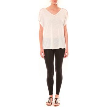 textil Mujer Camisetas manga corta Dress Code Top M-9388  Blanc Blanco