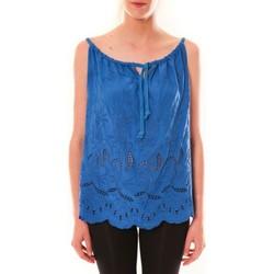 textil Mujer Camisetas sin mangas Dress Code Debardeur HS-1019  Bleu Azul