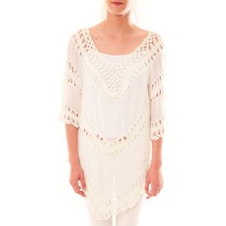 textil Mujer Túnicas Dress Code Tunique Bubblee  Blanche Blanco