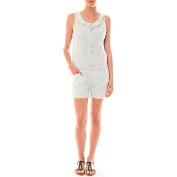 textil Mujer Monos / Petos Dress Code Combinaison F258  Denim Clair Azul