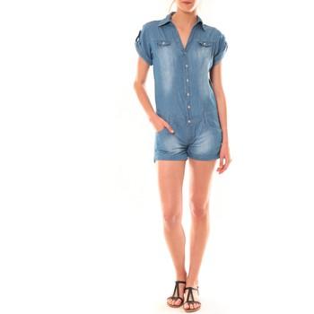 textil Mujer Monos / Petos Dress Code Combinaison F259  Denim Azul