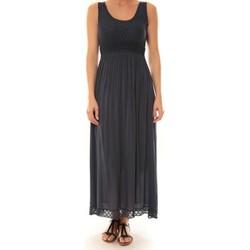 textil Mujer Vestidos largos La Vitrine De La Mode Robe Z1392 By La Vitrine Marine Azul