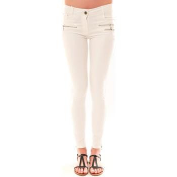 textil Mujer Pantalones con 5 bolsillos La Vitrine De La Mode Pantalon S2012 By La Vitrine Blanc Blanco