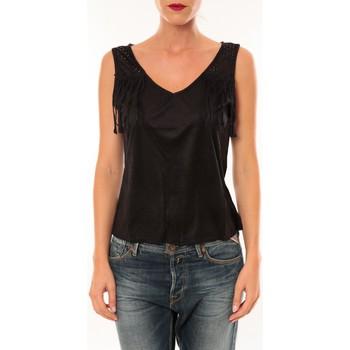textil Mujer Camisetas sin mangas Nina Rocca Top MC1998 noir Negro