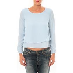 textil Mujer Camisetas manga larga By La Vitrine Top Z014 bleu Azul