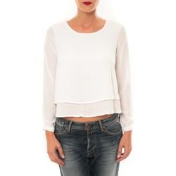 textil Mujer Camisetas manga larga By La Vitrine Top Z014 blanc Blanco