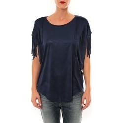 textil Mujer Camisetas manga corta Nina Rocca Top C1844 marine Azul