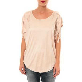 textil Mujer Camisetas manga corta Nina Rocca Top C1844 beige Beige