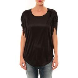 textil Mujer Camisetas manga corta Nina Rocca Top C1844 noir Negro