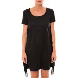 textil Mujer Vestidos cortos De Fil En Aiguille Robe MA8495 noir Negro