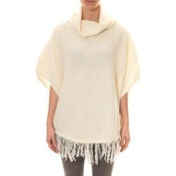 textil Mujer Chaquetas de punto La Vitrine De La Mode Poncho Blanc Blanco
