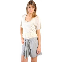 textil Mujer Camisetas manga corta Gat Rimon TOP LYLY ECRU Beige