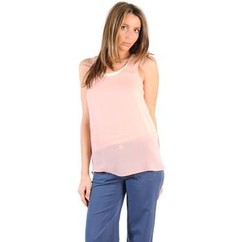 textil Mujer Camisetas manga corta Gat Rimon TOP SALLI AGATE Azul