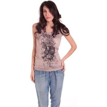 textil Mujer Camisetas sin mangas Rich & Royal DEBARDEUR CRASH 11Q415 TAUPE Marrón