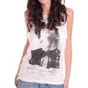 textil Mujer Camisetas sin mangas Rich & Royal DEBARDEUR 11Q418 BLANC Blanco