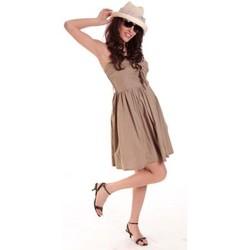 textil Mujer Vestidos cortos Aggabarti ROBE NOEUD 111029 BEIGE Beige