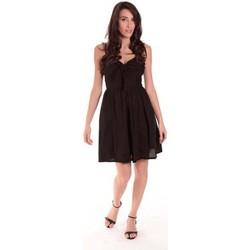 textil Mujer Vestidos cortos Aggabarti ROBE NOEUD 111029 NOIRE Negro