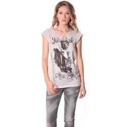 textil Mujer Camisetas manga corta Rich & Royal Tee-shirt Little 13q430 Ecru Beige