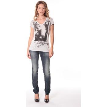 textil Mujer Camisetas manga corta Rich & Royal Tee-shirt Kate 13q431 Ecru Beige