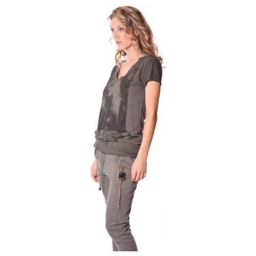 textil Mujer Camisetas manga corta Rich & Royal Tee-shirt Kate 13q431 Carbone Gris