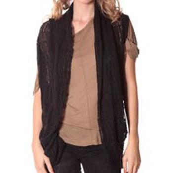 textil Mujer Chaquetas de punto Rich & Royal Rich&Royal Gilet mohair ABBA Noir 13q154/114 Negro
