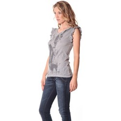 textil Mujer Camisetas sin mangas Rich & Royal Rich&Royal Tee shirt Glam Gris 13q427/862 Gris