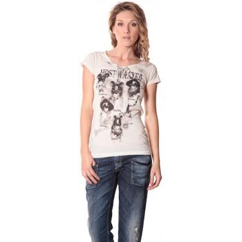 textil Mujer Camisetas manga corta Rich & Royal Rich&Royal Tee shirt Visages Ecru13q465 Beige