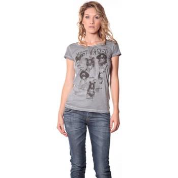 textil Mujer Camisetas manga corta Rich & Royal Rich&Royal Tee shirt Visages Gris 13q465 Gris