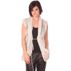 textil Mujer Chaquetas de punto Rich & Royal Rich&Royal Gilet Chine Blanco