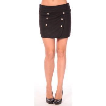 textil Mujer Faldas Aggabarti Jupe Ola 112042 Noir Negro