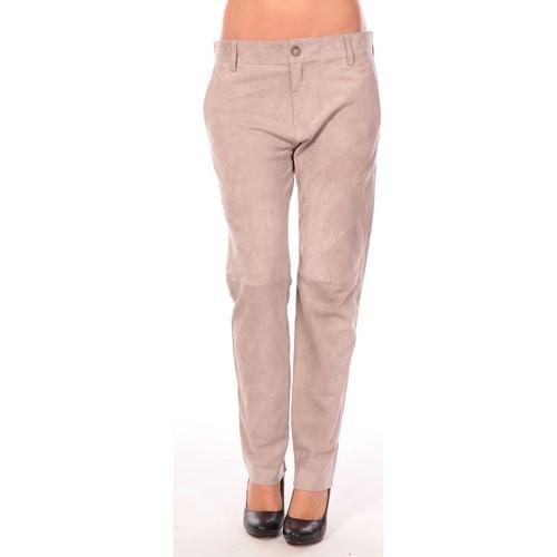 textil Mujer Pantalones con 5 bolsillos Charlie Joe Pantalon Clint Marrón